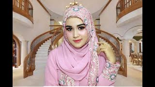 TUTORIAL MAKE UP ONE BRAND WARDAH DAN HIJAB PESTA MEWAH