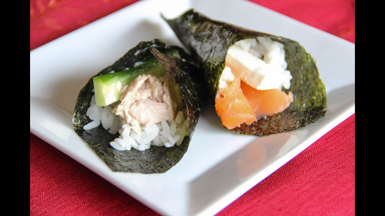 Hand roll sushi recipe japanese cooking 101 youtube forumfinder Gallery