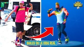ALL THE NEW FORTNITE BAILES IN THE REAL LIFE OF BATTLE PASS 5! [FernandoCoC]