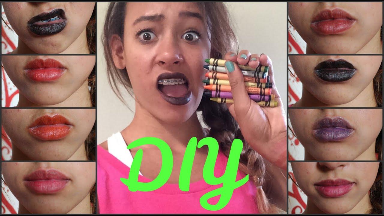 DIY CRAYON LIPSTICK (redo) - HowToByJordan - YouTube