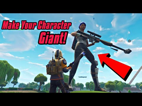 Make Your Character Giant Glitch In Fortnite (New) Fortnite Glitches PS4/Xbox one 2018