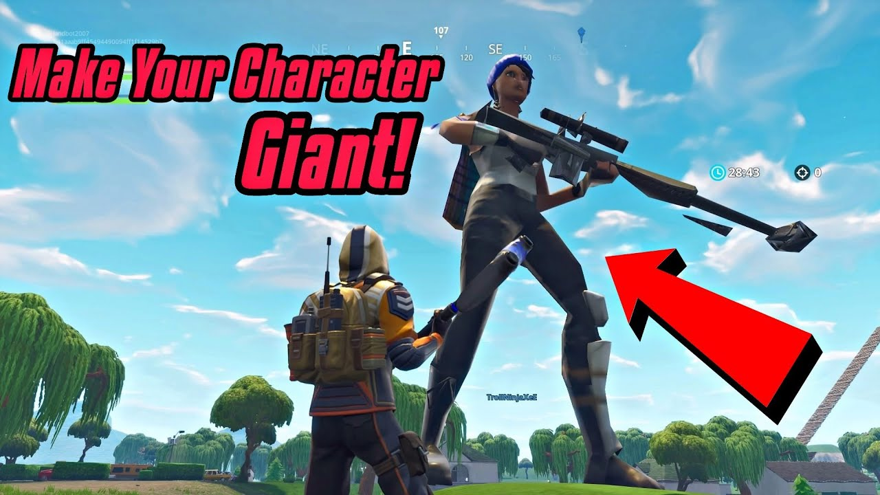 How to create your character on fortnite