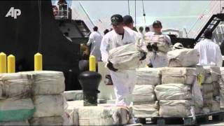 Raw Video: Coast Guard Unloads 7.5 Tons of Drugs