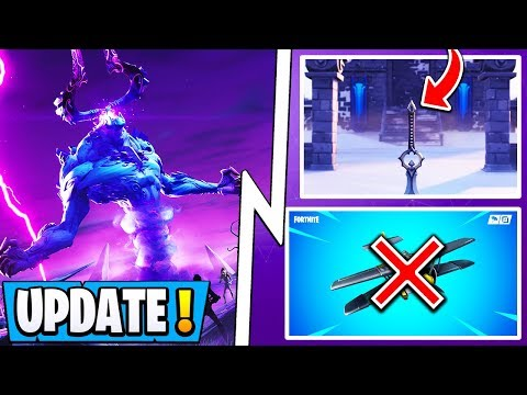 *NEW* Fortnite 7.01 Update! | Storm King Coming, Airplane Nerf, More Wraps!