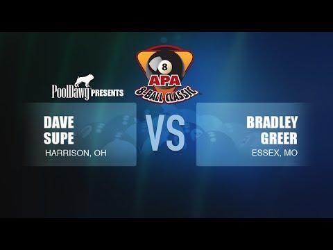 2018 APA 8-Ball Classic - Dave Supe VS Bradley Greer - Red Tier Final