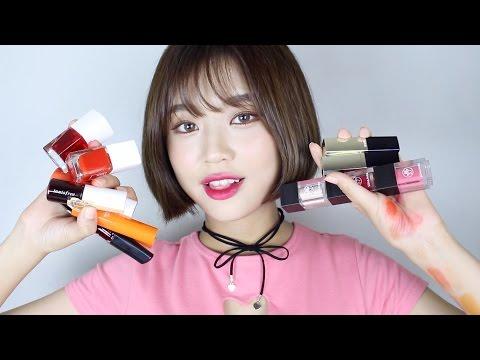 (ENG) Korean Lip Tint Haul // 한국 화장품 탐험... 립 틴트 하울!