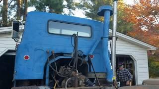 The Whinder Binder International 671 Detroit Diesel Straight Stack test fit