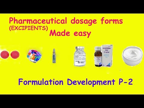 dosage form|formulation development|an introduction-excipients