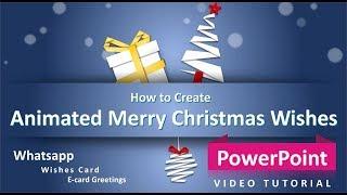 Wie zu Erstellen, Frohe Weihnachten Wünsche Animierte E-card-Grüße | PowerPoint-Tutorial | durch Kunst Genießen
