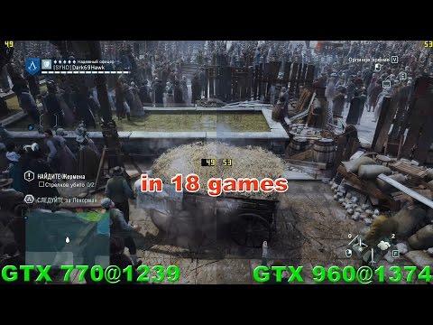 GTX 770 vs GTX 960 in 18 Games