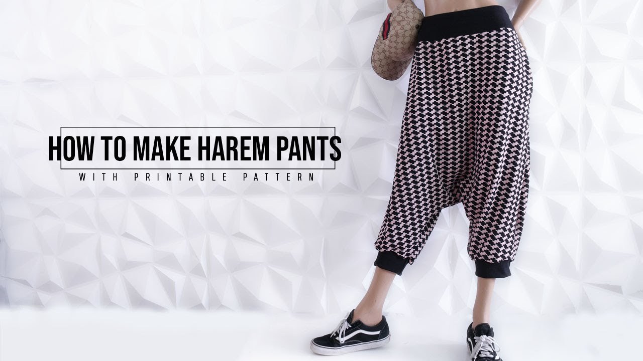graphic about Printable Pattern identified as Do-it-yourself Harem Trousers