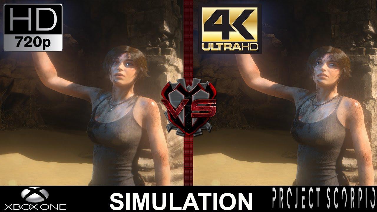 720P VS 4K Gaming | Xbox One VS Project Scorpio Simulation | GTX