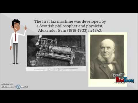 When was the first fax machine developed