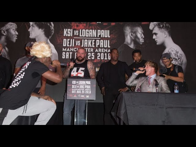*LEAKED* KSI VS. LOGAN PAUL UK PRESS CONFERENCE!