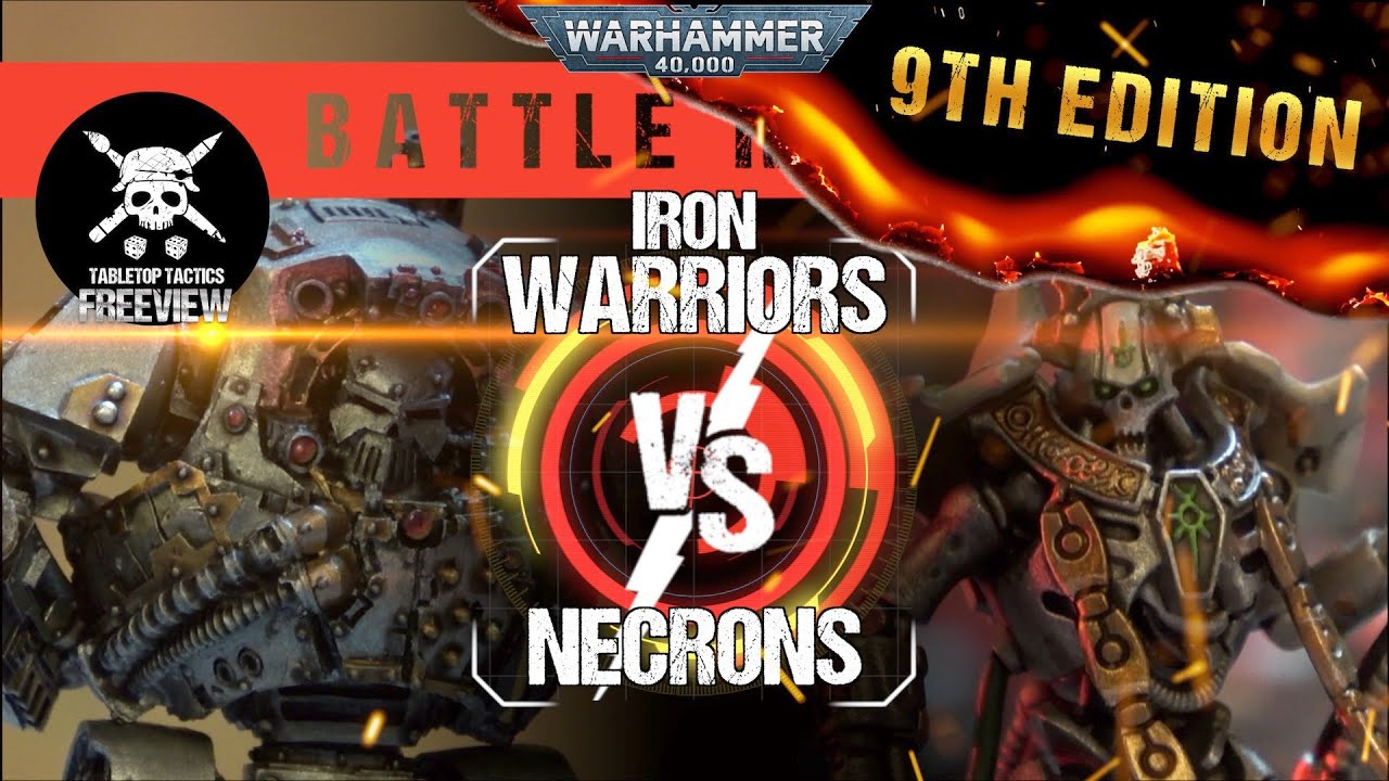 Warhammer 40,000 Battle Report: Iron Warriors vs Necrons 2000pts