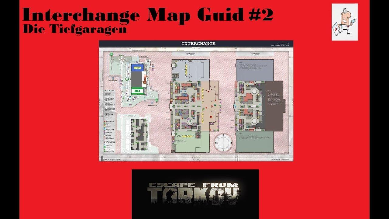 Escape From Tarkov / German / Deutsch / Tutorial / Map Guide Interchange  Die Tiefgaragen