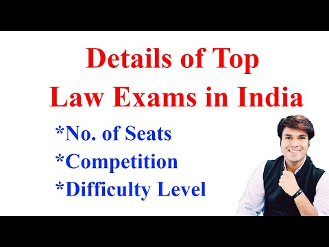 Seats & Competition in Top Law Exams on India for 5 Years Integerated Program   CLAT,AILET,SET,MHCET