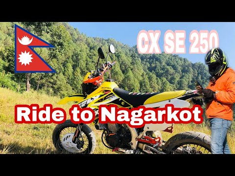 Ride to Nagarkot || Normal day out with jigriiiii .... || CX SE 250 || Nepal