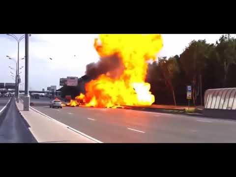 Uz avariya    Gaz balonLari portlap ketti   дтп  взрыв газ баллонов   взорвались газ баллоны