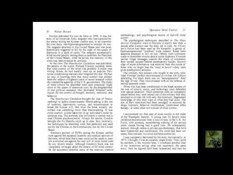 Обзор книги «Операция Контроль разума» Уолтера Боварта гипноз, наркотики, психополитика