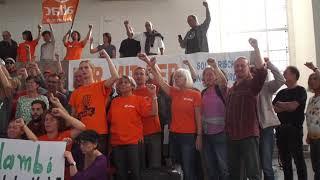 Hambi bleibt! - attac besetzt Paulskirche in Frankfurt - System change not climate change!