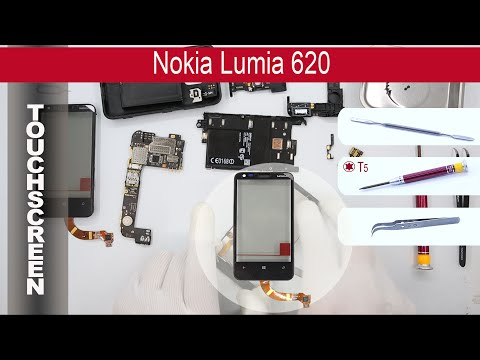 How to replace 🔧 📱 Digitizer (touch screen) Nokia Lumia 620 RM-846