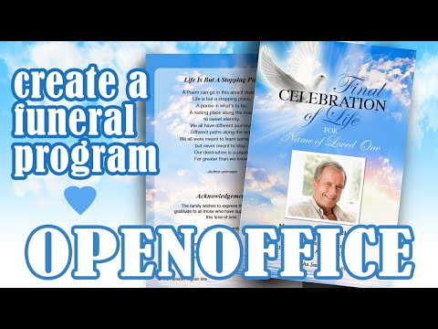 Create A Funeral Program In OpenOffice