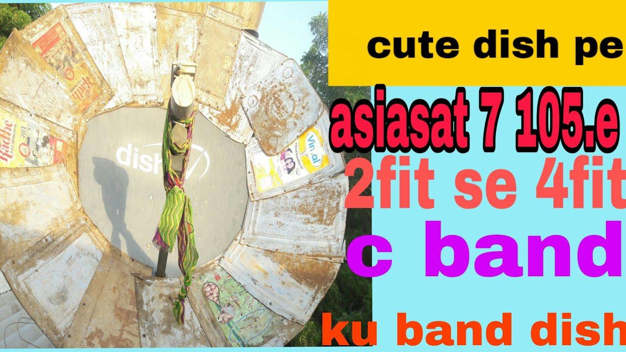 Asiasat 7 105 e ku band dish 2fit se 4fit c band dish antina pe Sat 250  channles list