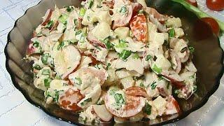 Салат из редиса с тунцом