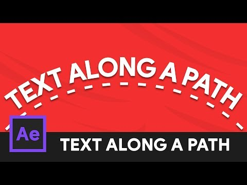 Animate Text Along a Path - After Effects Tutorial