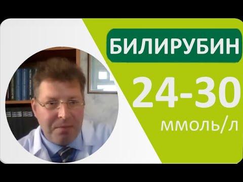 Билирубин 24-30 ммоль/л