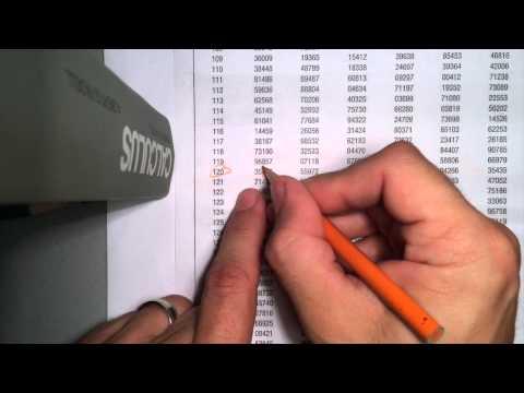 Statistics Random Numbers Table How To Use