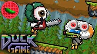 DELICIOUS DUCK DESTRUCTION! -- Let's Play Duck Game (Local Versus)