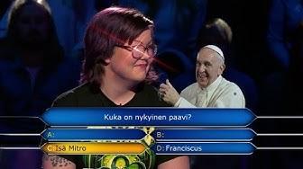 Haluatko miljonääriksi?: Kuka on nykyinen paavi? || Isä Mitro