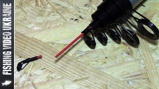 быстрый ремонт вершинки удочки с кольцами. Излом возле тюльпана. HD