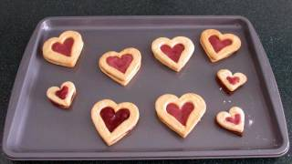 Valentine's Day Jam-filled Butter Cookies!