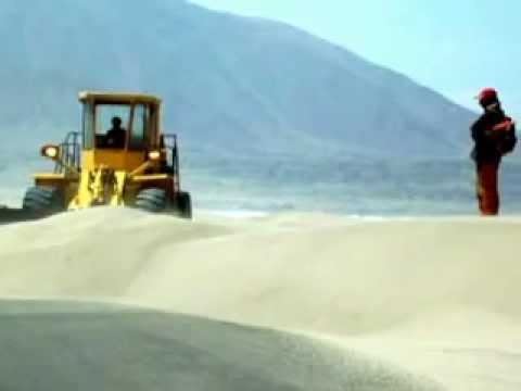 A Sudden Sandstorm On The Pan American Highway in Peru