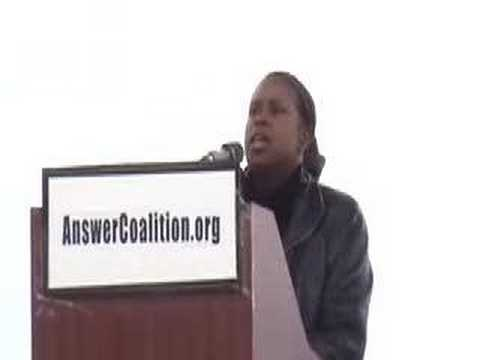 """Cynthia McKinney at the """"March on the Pentagon"""" Rally"""