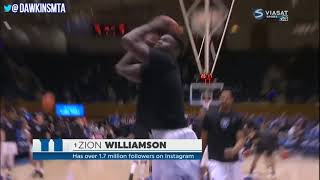 Zion Williamson Duke vs Army Full Highlights