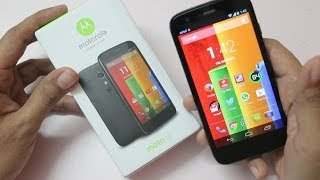 Moto G - Moto G Unboxing First Boot & Hands on Overview