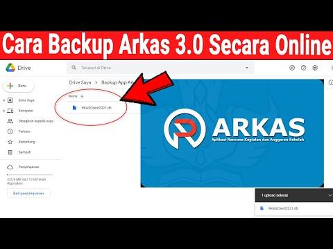 Cara Backup Aplikasi Arkas 3.0 Secara Online