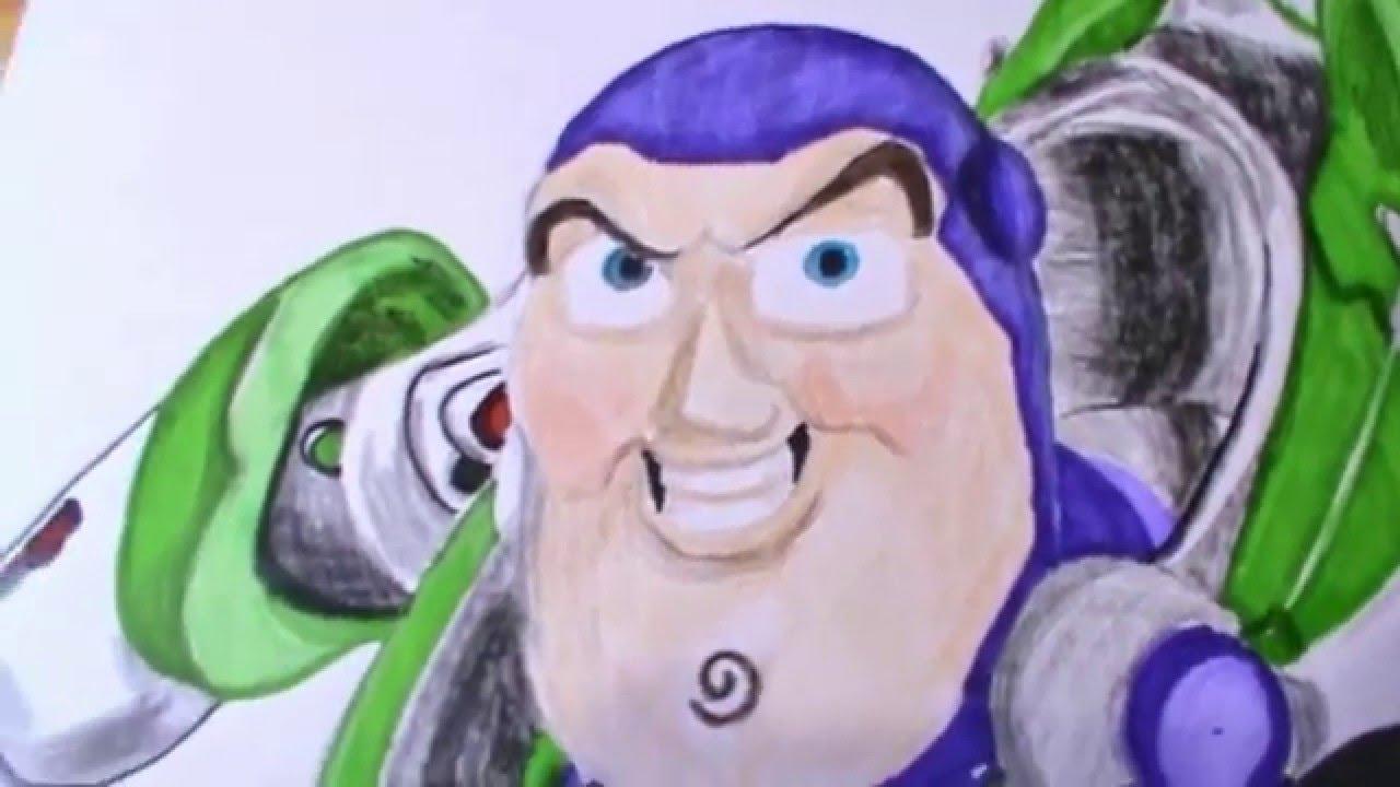 TOY STORY Disney Pixar | Dibujando a Buzz Lightyear| Speed Drawing ...