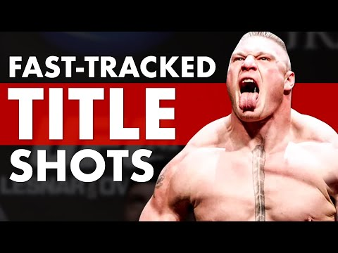 Top 10 Most Fast Tracked UFC Title Shots