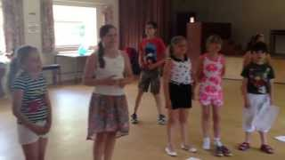Butterflies drama class in their singing lesson xx