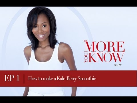 EP 1: How to Make a Kale Berry Smoothie Without the Taste of Any Vegetables - Kids will love it too