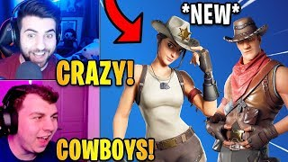 Streamers React to the *NEW* RIO GRANDE & FRONTIER Skins! | Fortnite Highlights & Funny Moments