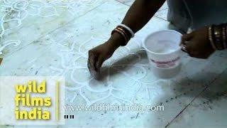 Rangoli making competition a part of Rath Yatra Utsav - Delhi