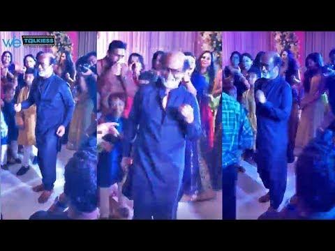 Rajinikanth dancing video with his grandson at Soundarya wedding | Vishagan