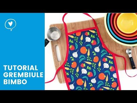 Tutorial grembiule bimbo set coordinato youtube for Cucina giocattolo fai da te