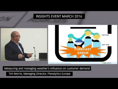 Measuring and managing weather's influence on customer demand